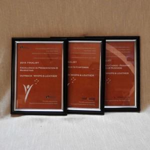 finalist certificates